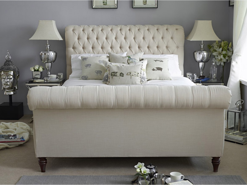 Willow And Hall Sofa Beds Angle Dressed Shown In Linen